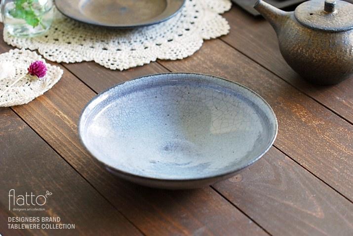 水野幸一さんが作られた墨貫入の平鉢