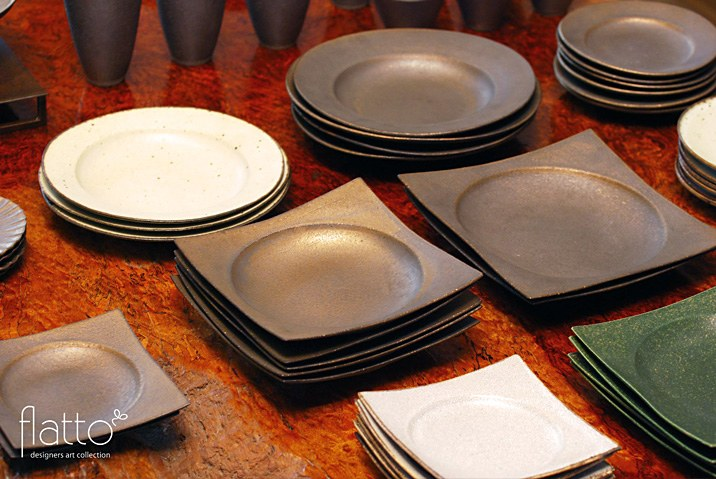 水野幸一さんの銅彩の和食器
