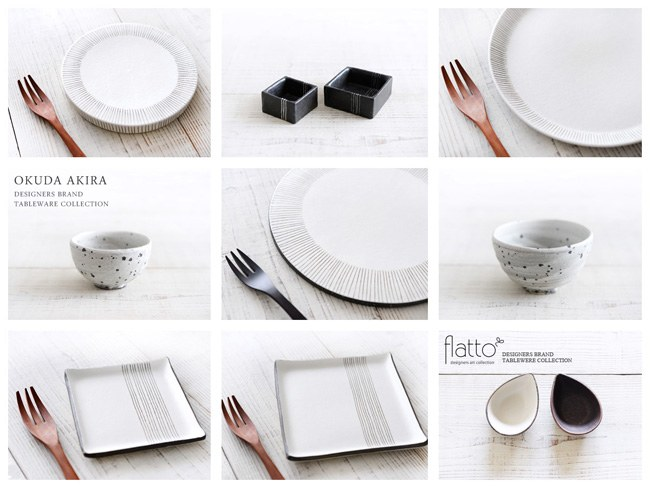 奥田章さんの和食器ラインナップ