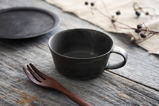 トキノハ shiro-kuroスープカップ(黒)