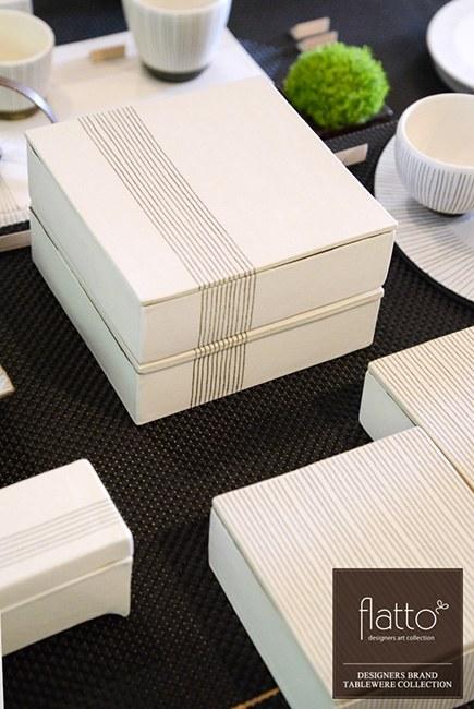 陶芸作家「奥田章」さんの「十草 重箱」