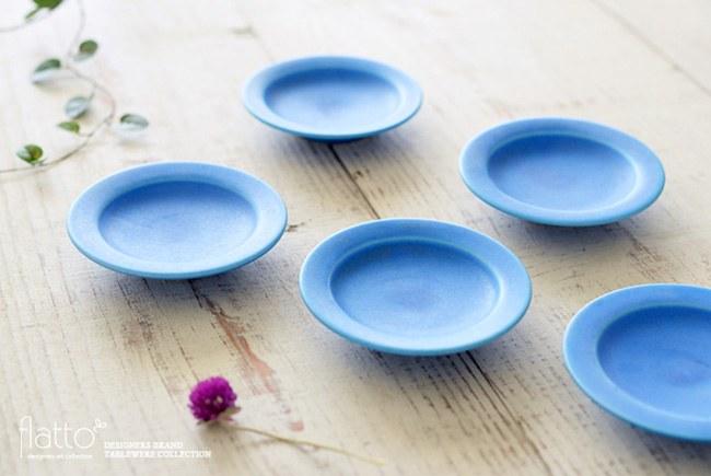 東一仁 ブループレート3寸皿