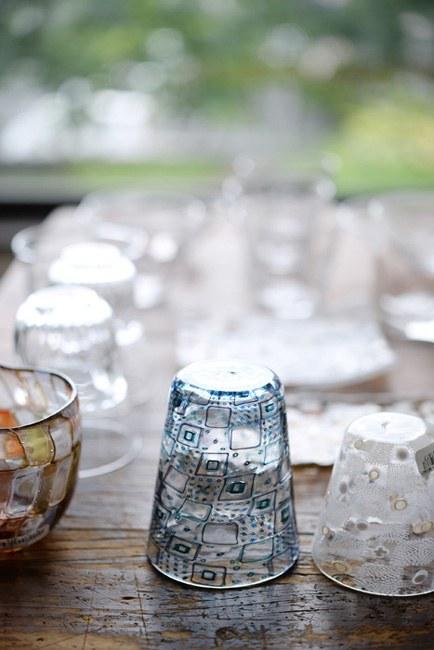 みずのみさ モザイクガラス