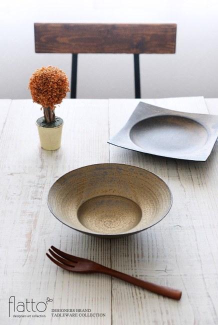 水野幸一「銅彩釉 リム鉢(小)」