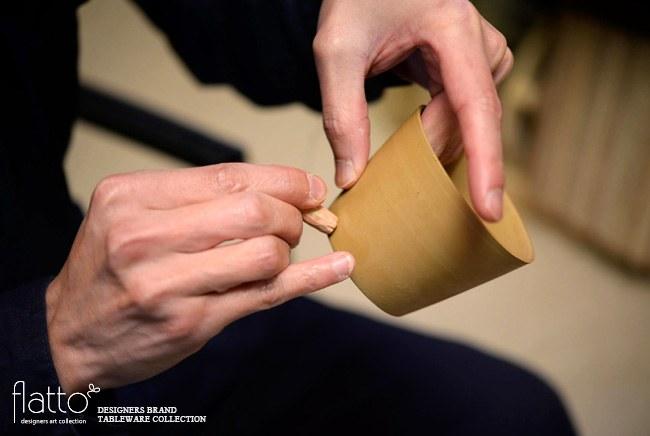 印花の器の制作風景