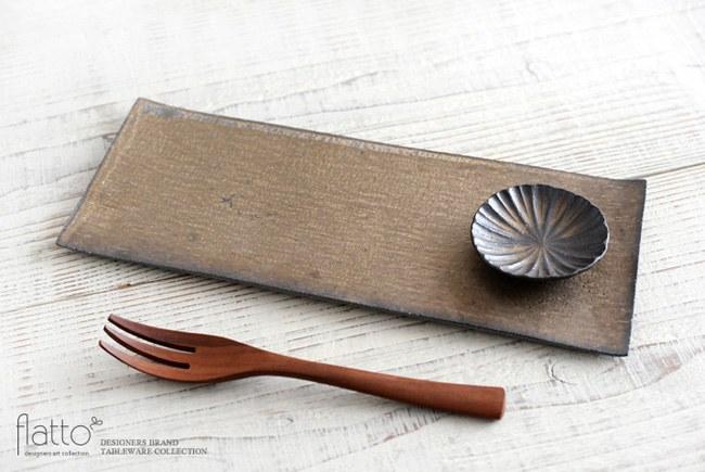 水野幸一の銅彩釉モール豆皿