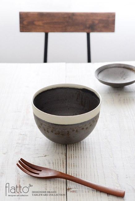 トキノハ 「shiro-kuro 碗(6・縁白)」