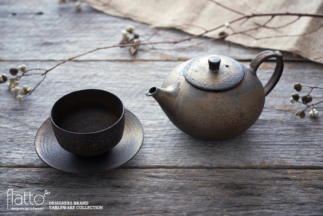 水野幸一 銅彩釉 茶ポット