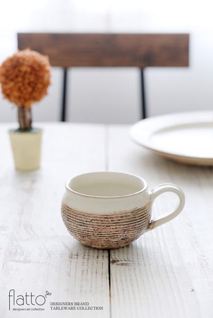 古谷浩一:渕荒横彫コーヒーカップ
