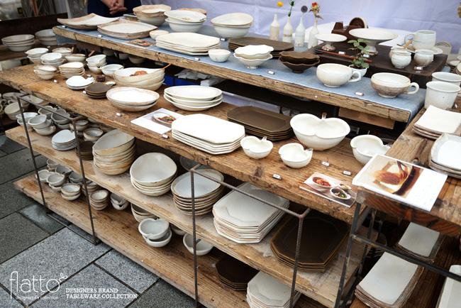 五条坂陶器祭りの古谷浩一さんブース