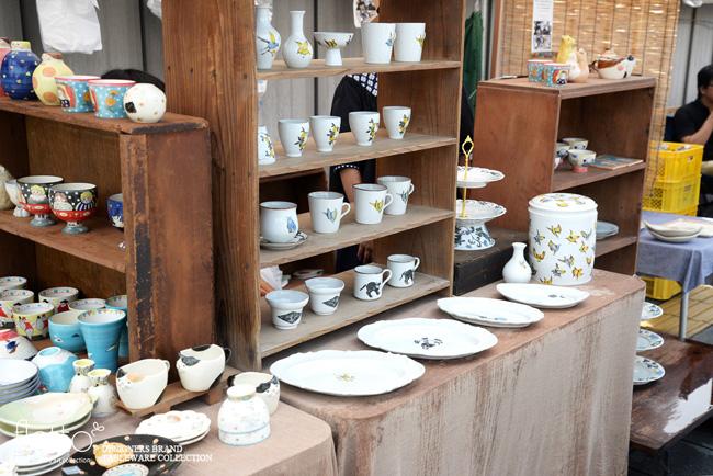 五条坂陶器祭りの松本郁美さんブース