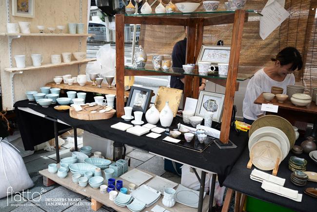 五条坂陶器祭りの高橋亜希さんブース