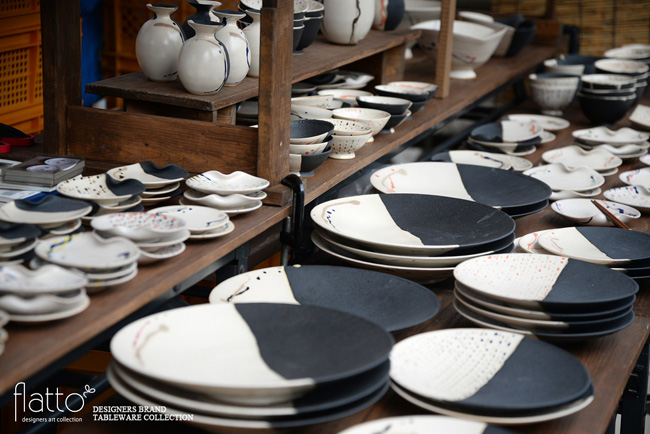 五条坂陶器祭りの安田宏定さんブース