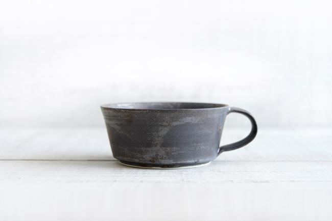 トキノハ shiro-kuroスープカップ黒