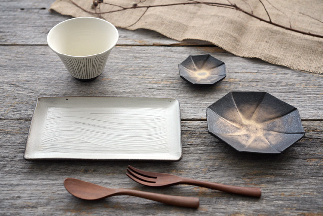奥田章さんの和食器