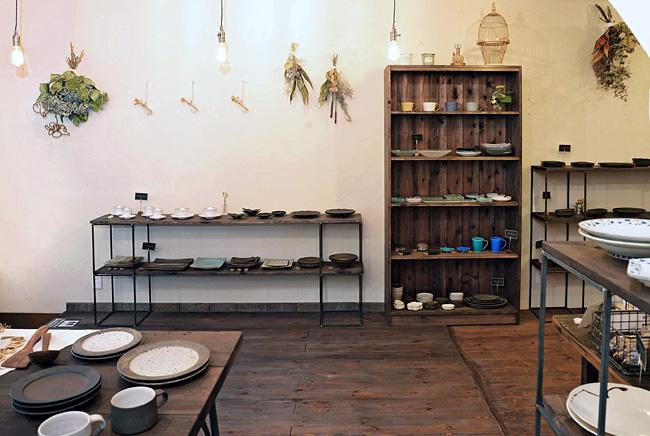 和食器セレクトショップflatto(フラット)の店内