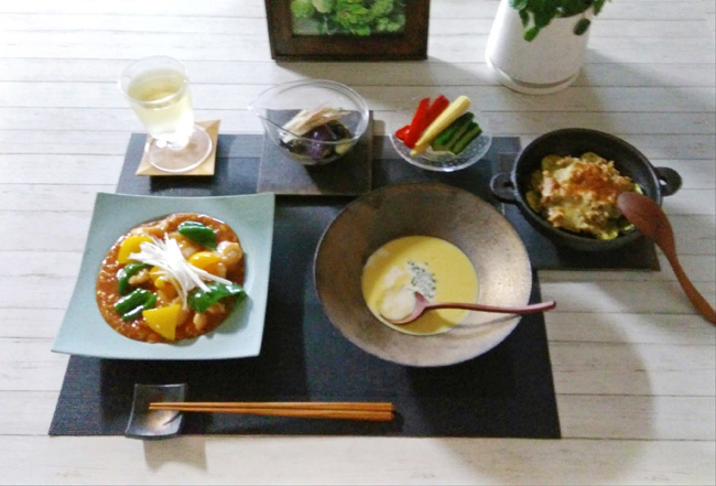 Oさまの和食器を使った食卓02