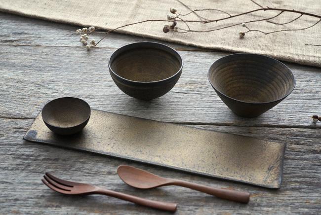 水野幸一さんの銅彩釉のうつわ