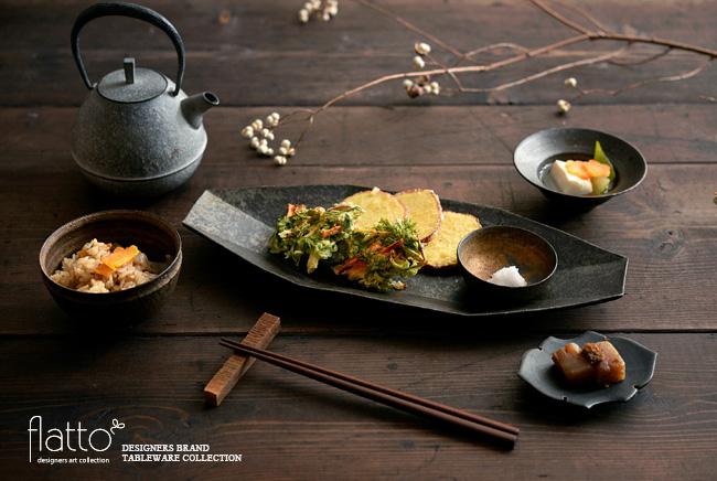 和食器とにんじん葉のかき揚げ和定食